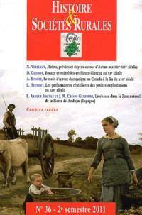 Jean-Marc Moriceau - Histoire & Sociétés Rurales N° 36, 2e semestre 2 : .