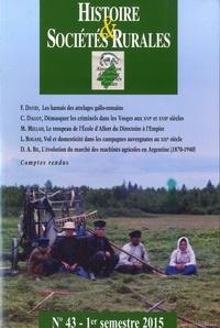 Jean-Marc Moriceau - Histoire & Sociétés Rurales N° 43, 1er semestre  : .