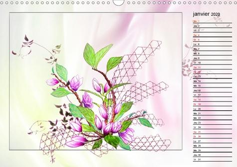 Ikebana fantaisie (Calendrier mural 2020 DIN A3 horizontal). Découvrez l'art Ikebana (Calendrier anniversaire, 14 Pages )