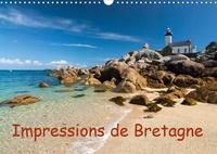 Klaus Hoffmann - Impressions de Bretagne (Calendrier mural 2020 DIN A3 horizontal) - La Bretagne, le pays entouré par la mer (Calendrier mensuel, 14 Pages ).