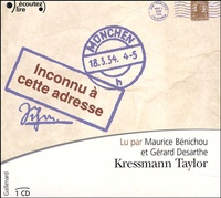 Kathrine Kressmann Taylor - Inconnu à cette adresse. 1 CD audio