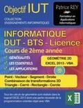 Patrice Rey - IUT Informatique DUT BTS Licence - Tome 9, Géométrie 2D, Point, Vecteur, Segment, Droite, Transformations 2D, Triangle, Carré, Rectangle, Cercle.