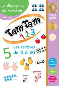 Ab Ludis - Je les nombres Tam Tam 1 2 3 - Les nombres de 0 à 20. Avec 3 jeux Tam Tam, 1 poster et 10 cartes nombres.