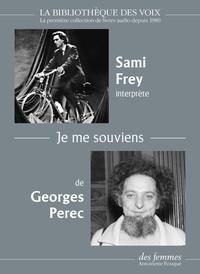 Georges Perec - Je me souviens. 1 CD audio MP3