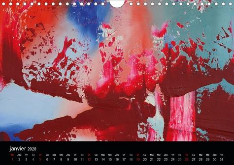 Jeux de couleurs (Calendrier mural 2020 DIN A4 horizontal). Art abstrait multicolore (Calendrier mensuel, 14 Pages )