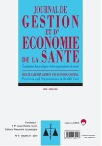 Eska - Journal de gestion et d'économie de la santé Volume 37 N° 6-2019 : Evaluation des pratiques et des organisations de sante-jges 6-2019.