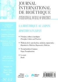 Christian Byk - Journal International de Bioéthique Volume 16 N° 1-2, Ju : La bioéthique au Japon.