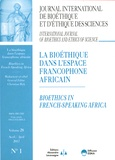 Christian Byk - Journal International de Bioéthique Volume 28 N° 1, avri : La bioéthique dans l'espace francophone africain.