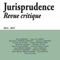 Vincent Forray et Sébastien Pimont - Jurisprudence Revue critique 2014-2015 : .