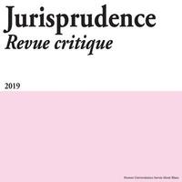 Vincent Forray et Sébastien Pimont - Jurisprudence Revue critique 2019 : .