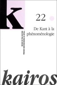 Jean-Jacques Delfour et Jean-François Lavigne - Kairos N° 22/2003 : De Kant à la phénoménologie.
