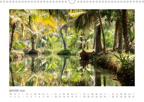 Kerala, dans le sud de l'Inde (Calendrier mural 2020 DIN A3 horizontal). Des Backwaters jusqu'aux plantations de thé dans les montagnes de Cardamome. (Calendrier mensuel, 14 Pages )