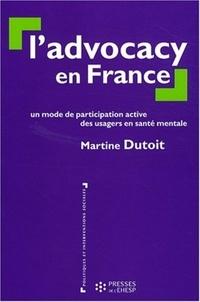 Martine Dutoit - L'advocacy en France - Un mode de participation active des usagers en santé mentale.