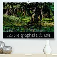 Michel Angot - L'arbre graphiste du bois(Premium, hochwertiger DIN A2 Wandkalender 2020, Kunstdruck in Hochglanz) - L'arbre est le graphiste de la forêt et de l'intérieur de son bois (Calendrier mensuel, 14 Pages ).