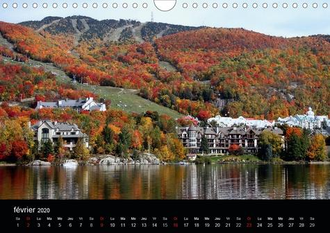 L'été Indien au Mont Tremblant, Québec (Calendrier mural 2020 DIN A4 horizontal). Forêts flamboyantes d'automne au Québec Canada (Calendrier mensuel, 14 Pages )