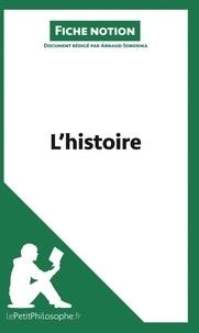 Arnaud Sorosina - L'histoire (fiche notion) - Comprendre la philosophie.
