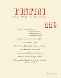 Philippe Sollers et Michaël Ferrier - L'infini N° 110 : .