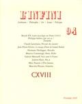 Claude Lanzmann et Jean-Pierre Ferrini - L'infini N° 94, Printemps 200 : .