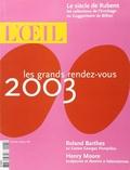 Collectif - L'Oeil N° 543, Janvier 2003 : .