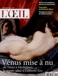 Manuel Jover et Dominique Brême - L'Oeil N° 553 Décembre 2003 : Vénus mise à nu.