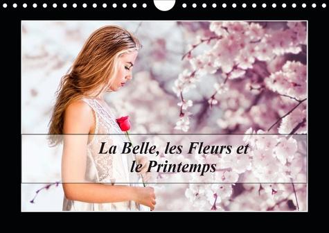 La Belle, les Fleurs et le Printemps (Calendrier mural 2020 DIN A4 horizontal). Une jeune femme semblant vivre au printemps toute l'année. (Calendrier mensuel, 14 Pages )
