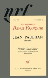 Gallimard - La Nouvelle Revue Française N° 197, Mai 1969 : Jean Paulhan (1884-1968).