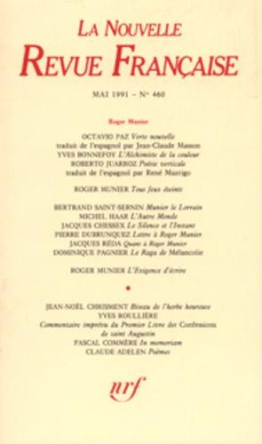Gallimard - La Nouvelle Revue Française N° 460, mai 1991 : .
