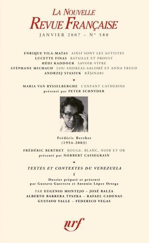 Enrique Vila-Matas et Lucette Finas - La Nouvelle Revue Française N° 580 (janvier 2007 : .
