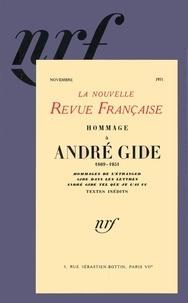 Gallimard - La Nouvelle Revue Française Novembre 1951 : Hommage à André Gide.