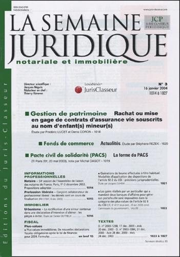 Juris Classeur - La Semaine Juridique notariale et immobilière N° 1 à 47, année 200 : .