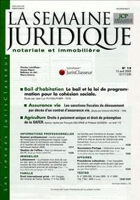 La Semaine Juridique notariale et immobilière N° 15, 15 avril 2005.pdf