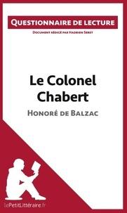 Hadrien Seret - Le colonel Chabert de Balzac - Questionnaire de lecture.