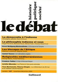 Sunil Khilnani et Christophe Jaffrelot - Le Débat N° 137, Novembre-Déc : .
