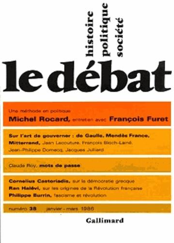 Collectif - Le Débat N° 38, janvier 1986 : .