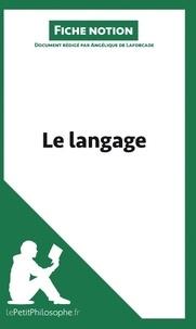 Angélique de Laforcade - Le langage (fiche notion) - Comprendre la philosophie.