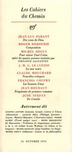 Collectifs - Les cahiers du Chemin N° 10, 15 Octobre 19 : .