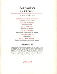 Collectifs - Les cahiers du Chemin N° 20 : .