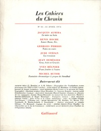 Collectifs - Les cahiers du Chemin N° 21, 15 Avril 1974 : .