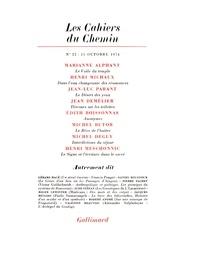 Collectifs - Les cahiers du Chemin N° 22, 15 Octobre 19 : .