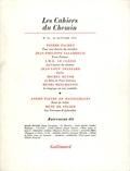 Collectif - Les cahiers du Chemin N° 23, 15 Janvier 19 : .