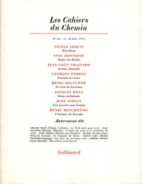 Collectifs - Les cahiers du Chemin N° 24, 15 Avril 1974 : .