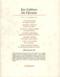 Gallimard - Les cahiers du Chemin N° 25, 15 Octobre 19 : .