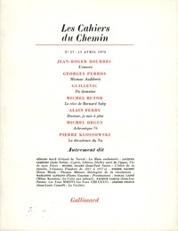 Collectifs - Les cahiers du Chemin N° 27, 15 Avril 1976 : .