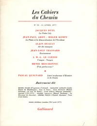 Collectifs - Les cahiers du Chemin N° 30, 15 Avril 1977 : .