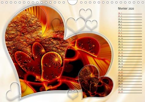 Les cœurs doux (Calendrier mural 2020 DIN A4 horizontal). Des cœurs sucrés comme du chocolat (Calendrier anniversaire, 14 Pages )