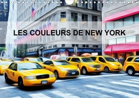 Bourrigaud Frédéric - Les couleurs de New York (Calendrier mural 2020 DIN A4 horizontal) - Créations graphiques sur la ville de New york (Calendrier mensuel, 14 Pages ).