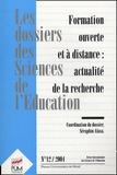 Séraphin Alava et Pascal Marquet - Les dossiers des Sciences de l'Education N° 12/2004 : Formation ouverte et à distance : actualité de la recherche.