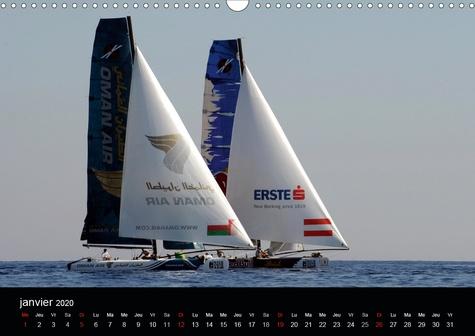 Les F1 de la Baie des Anges (Calendrier mural 2020 DIN A3 horizontal). Nice a accueilli l'armada de l'Extreme Sailing Series en octobre 2011 et depuis, elle sillonne la Baie des Anges chaque année. (Calendrier mensuel, 14 Pages )