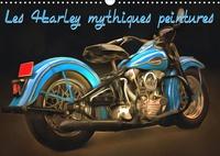 K.a. Sudpastel - Les Harley mythiques peintures (Calendrier mural 2020 DIN A3 horizontal) - Série de 12 peintures d'une sélection des plus belles Harley-Davidson rétro. (Calendrier mensuel, 14 Pages ).