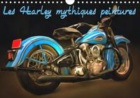 K.a. Sudpastel - Les Harley mythiques peintures (Calendrier mural 2020 DIN A4 horizontal) - Série de 12 peintures d'une sélection des plus belles Harley-Davidson rétro. (Calendrier mensuel, 14 Pages ).
